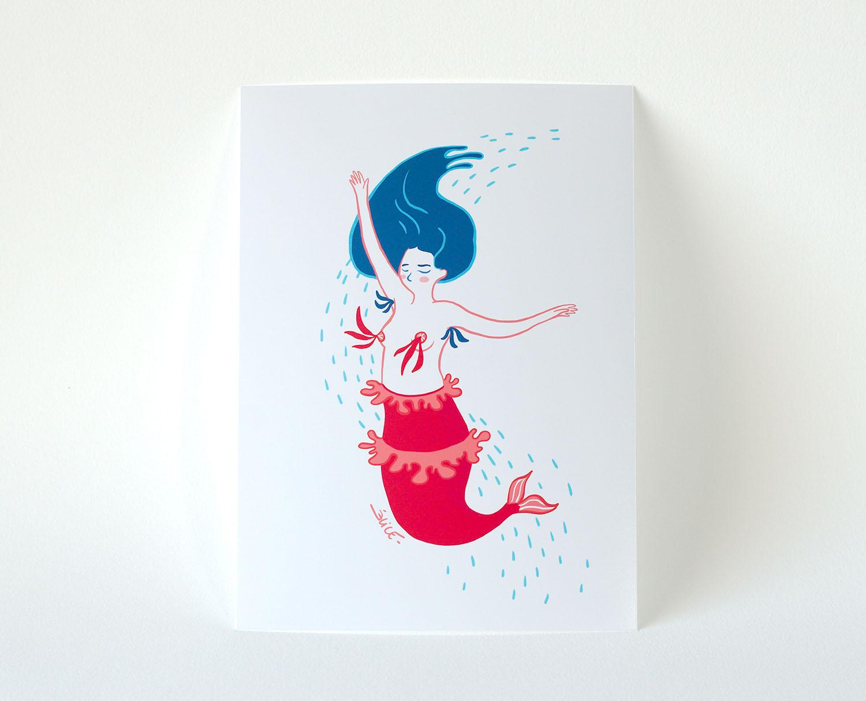 illustration d'une sirène danseuse à nippies
